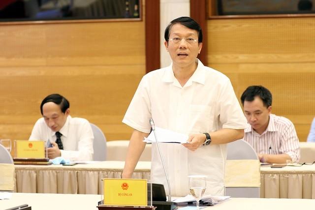 Trung tướng Lương Tam Quang - Thứ trưởng Bộ Công an thông tin về kết quả kiểm tra với Thiếu tướng Đặng Hoàng Đa.
