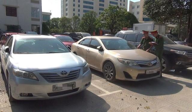 Xe ô tô nhập lậu bị thu giữ.
