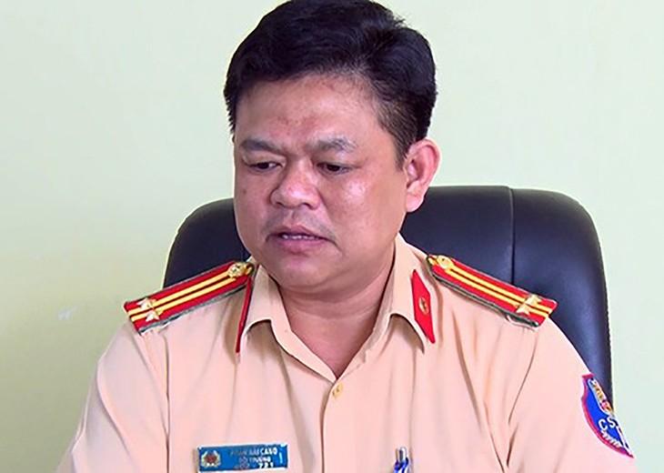 Trung tá Phạm Hải Cảng tại trụ sở CSGT số 2 năm 2019.