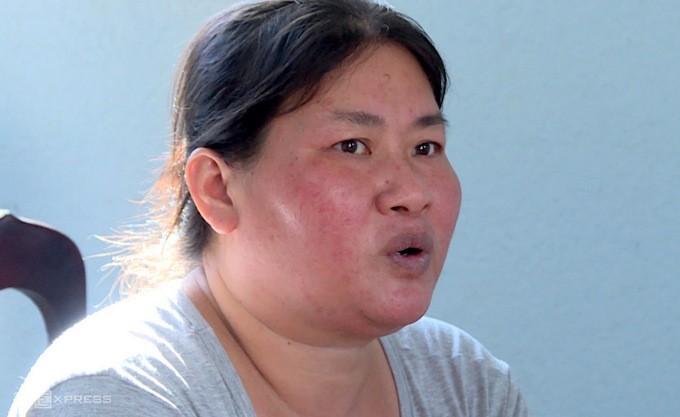 Nguyễn Thị Kim Chi tại cơ quan công an Xuyên Mộc.
