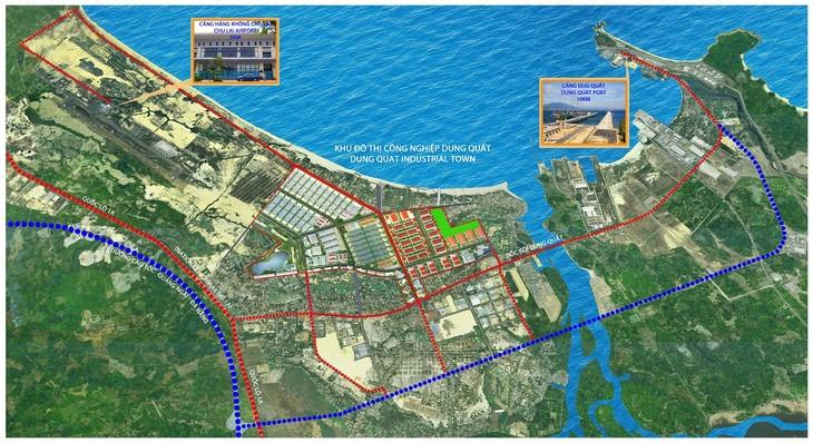 Phối cảnh Dự án Khu đô thị công nghiệp Dung Quất