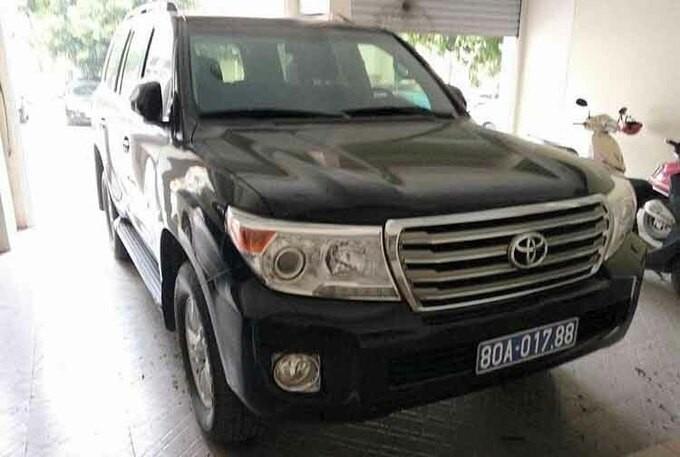 Chiéc xe vừa được tỉnh Nghệ An bán đấu giá thành công.