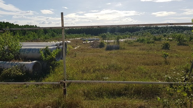 Một khu đất do Công ty CP địa ốc Alibaba đứng tên rao bán trái phép trên địa bàn xã Long Phước, huyện Long Thành, tỉnh Đồng Nai