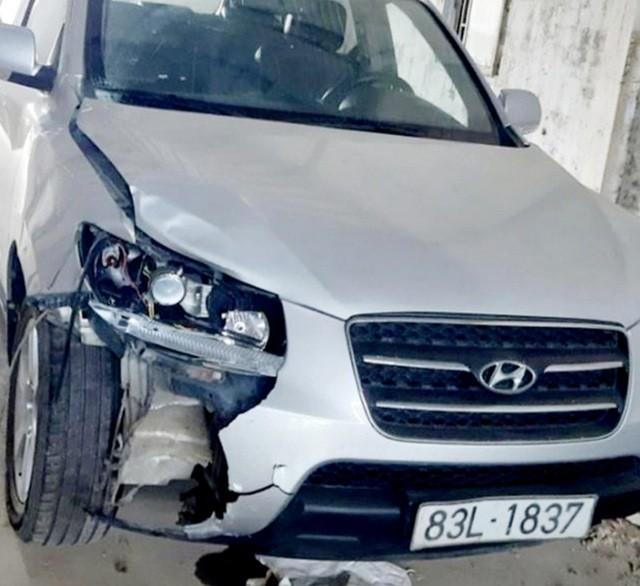 Chiếc xe được ông Són điều khiển gây tai nạn.