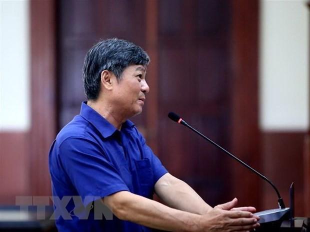 Bị cáo Đào Anh Kiệt (nguyên Giám đốc Sở Tài nguyên và Môi trường thành phố Hồ Chí Minh) tại phiên tòa. Ảnh: TTXVN