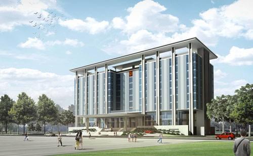 Mô hình thiết kế Trung tâm tòa nhà hành chính huyện Bàu Bàng