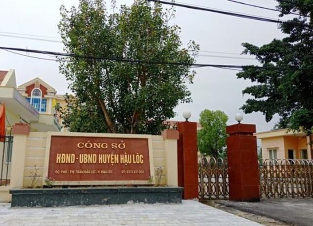 Phó Chủ tịch UBND huyện và Trưởng phòng Tài chính huyện Hậu Lộc bị bắt vì hành vi đánh bạc.