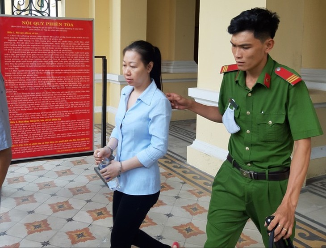 Bị cáo Hiền sau phiên tòa