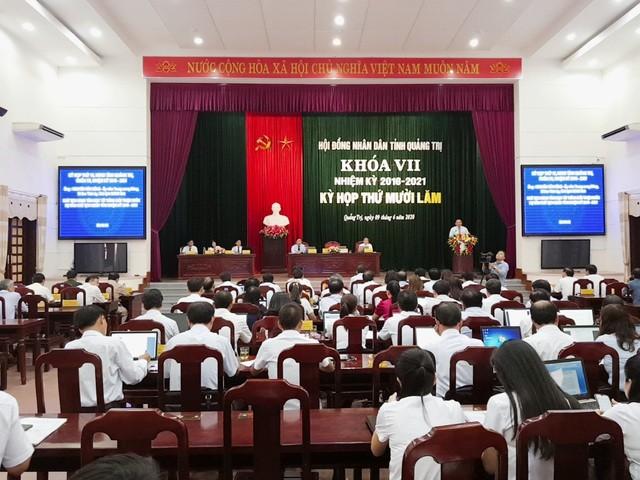 HĐND tỉnh tổ chức kỳ họp thứ 15 bầu ông Võ Văn Hưng giữ chức Chủ tịch UBND tỉnh Quảng Trị.