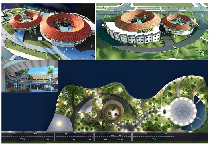 Phối cảnh Dự án Khu liên hợp Bảo tàng, Thư viện và Công viên tỉnh Đắk Nông