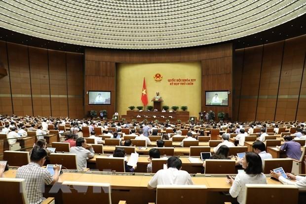 Toàn cảnh một phiên họp của Quốc hội. Ảnh: TTXVN