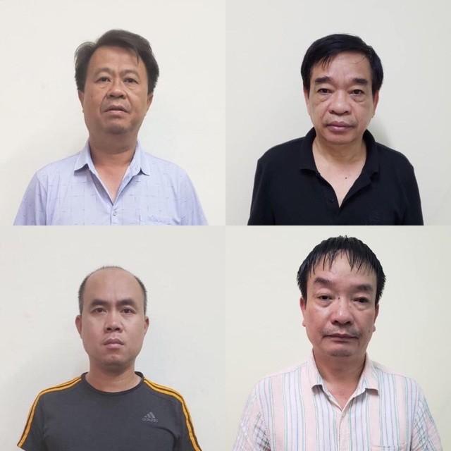 4 đối tượng cầm đầu 4 nhóm cát tặc tại cơ quan công an.