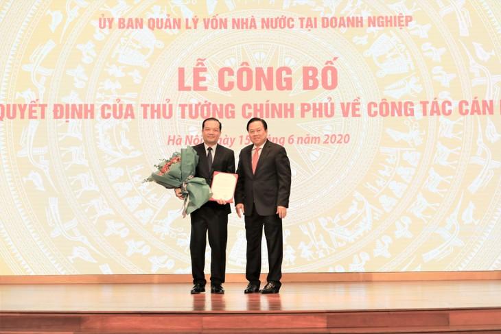 Thay mặt Chính phủ, ông Nguyễn Hoàng Anh, Ủy viên TW Đảng, Bí thư Ban cán sự, Chủ tịch Uỷ ban quản lý vốn Nhà nước tại Doanh nghiệp đã trao quyết định và chúc mừng ông Phạm Đức Long