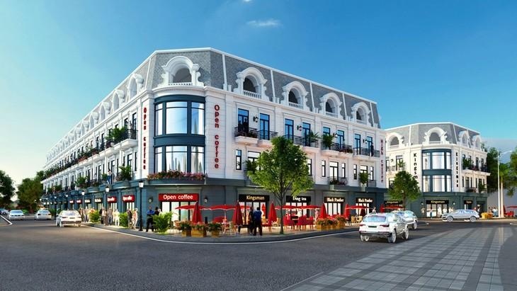 Mô hình Dự án Tổ hợp nhà phố thương mại shophouse kết hợp kinh doanh dịch vụ thương mại, khách sạn tại phường Hải Đình, TP. Đồng Hới