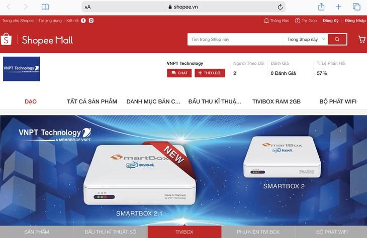 VNPT Technology đã chính thức mở gian hàng online trên Shopee, Tiki và Lazada