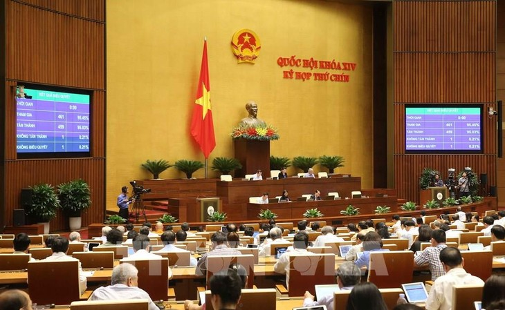 Nhiều dự án luật được Quốc hội thảo luận và biểu quyết thông qua. Ảnh minh họa: TTXVN