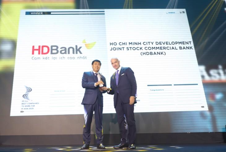 HDBank là ngân hàng Việt Nam duy nhất 03 năm vinh dự nhận giải thưởng danh giá này.