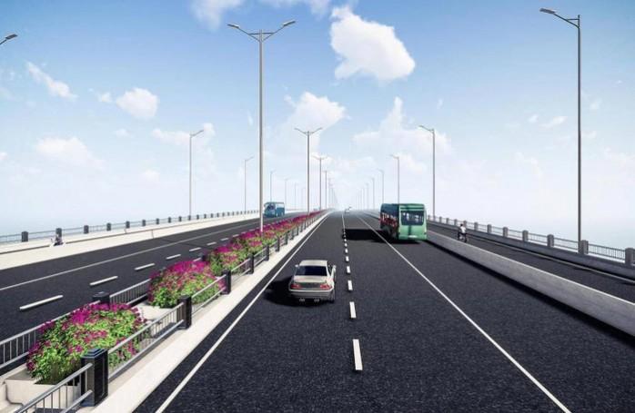 Theo quy hoạch và thiết kế, cầu Vĩnh Tuy rộng 38m, dài 5,8km.