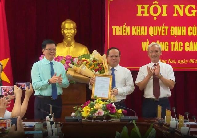 Ông Quản Minh Cường nhận quyết định bổ nhiệm làm Phó Bí thư Tỉnh ủy Đồng Nai