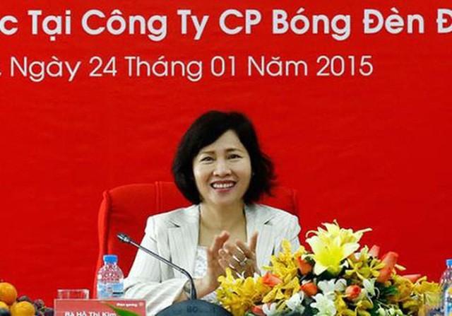 Bà Kim Thoa từng là Chủ tịch kiêm Tổng giám đốc Bóng đèn Điện Quang trước khi làm Thứ trưởng Bộ Công Thương