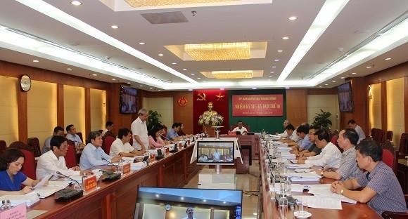 Đồng chí Trần Cẩm Tú chủ trì kỳ họp. Ảnh UBKTTW