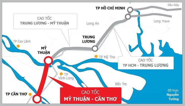 Dự án Cao tốc Mỹ Thuận - Cần Thơ dự kiến tổ chức lựa chọn nhà thầu từ ngày 20/10/2020