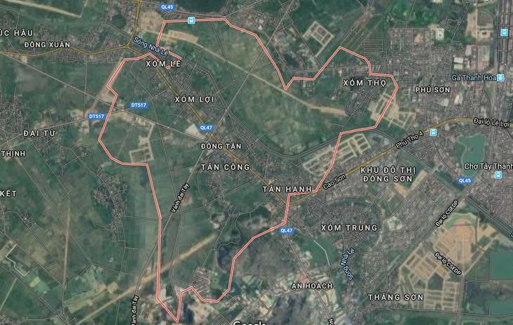 Dự án Khu dân cư phía Tây Nam đường vành đai Đông Tây được thực hiện tại xã Đông Tân, thành phố Thanh Hóa. Ảnh chỉ mang tính minh họa