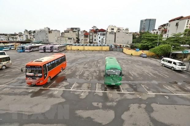 Bến xe Gia Lâm, Hà Nội. Ảnh: TTXVN