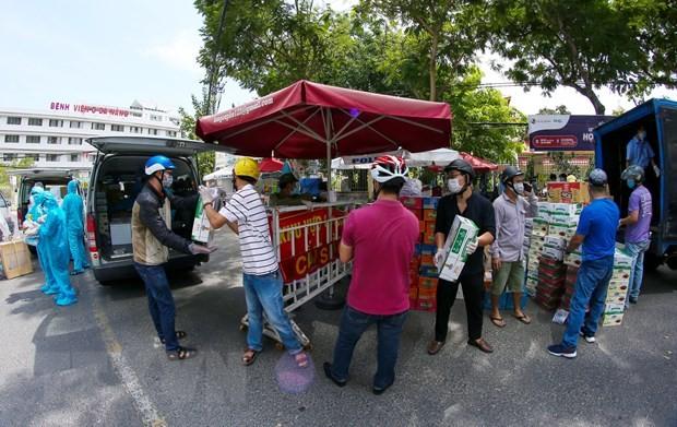 Khu cách ly tại Bệnh viện C Đà Nẵng. Ảnh: TTXVN