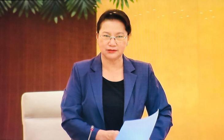Chủ tịch Quốc hội Nguyễn Thị Kim Ngân phát biểu khai mạc Phiên họp 47 của Ủy ban Thường vụ Quốc hội.