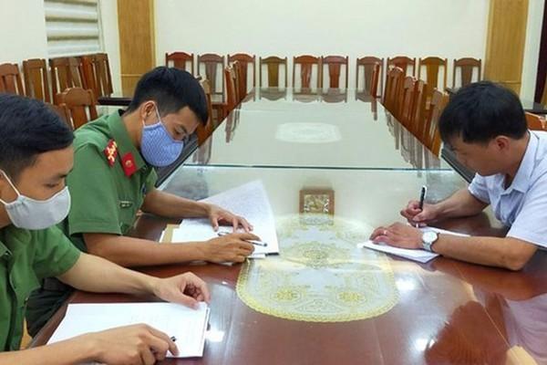 Trịnh Ngọc Tuyên tại cơ quan công an