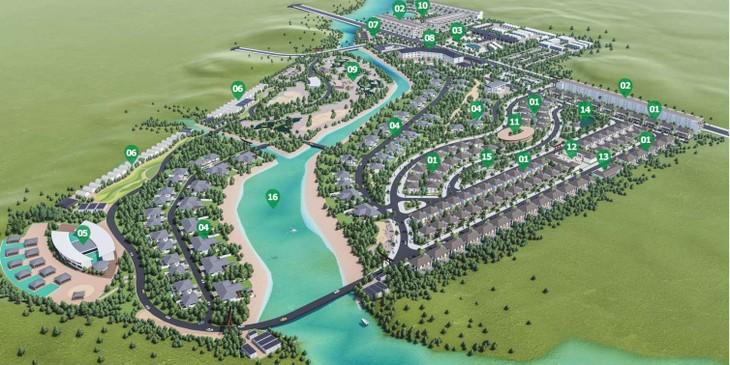 Quy hoạch chi tiết 1/500 của dự án Khu du lịch nghỉ dưỡng và chăm sóc sức khỏe Hội Vân.