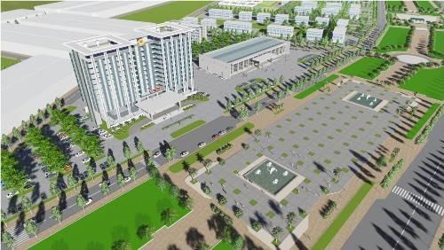 Mô hình Khu Trung tâm Hành chính huyện Bàu Bàng