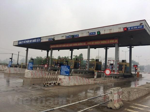 Trạm thu phí dự án BOT Quốc lộ 2 đoạn Nội Bài-Vĩnh Yên. Ảnh: Vietnam+