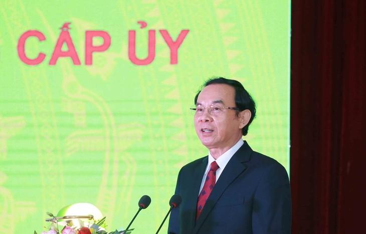 Ông Nguyễn Văn Nên được bầu giữ chức Bí thư Thành ủy TP. Hồ Chí Minh khóa XI. Ảnh: TTXVN