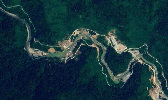 Thuỷ điện Rào Trăng 3 (ảnh: Google map)