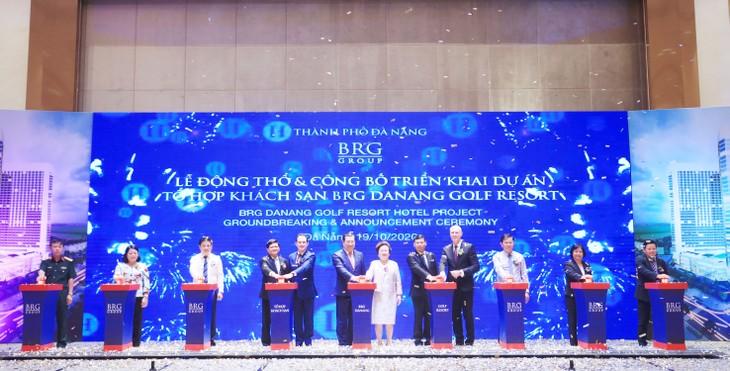 Nghi lễ bấm nút Động thổ Dự án Tổ hợp Khách sạn BRG Danang Golf Resort