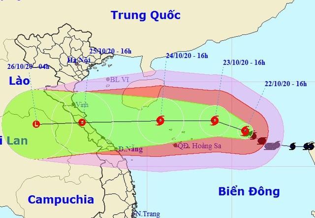 Trong 3 giờ qua, bão số 8 hầu như ít di chuyển. (Ảnh: NCHMF).
