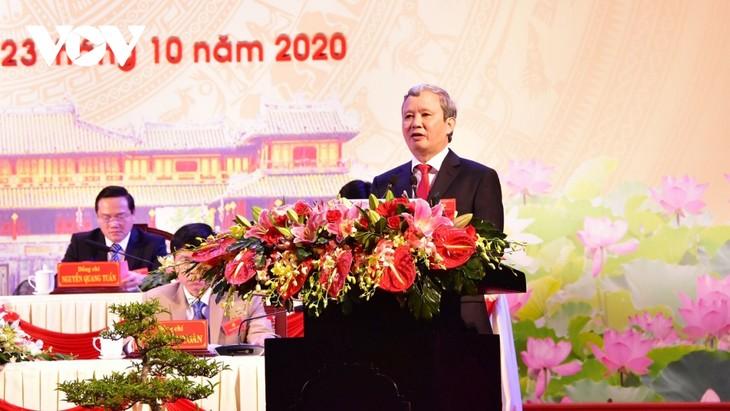 Ông Lê Trường Lưu tái đắc cử Bí thư Tỉnh ủy Thừa Thiên Huế, nhiệm kỳ 2020-2025