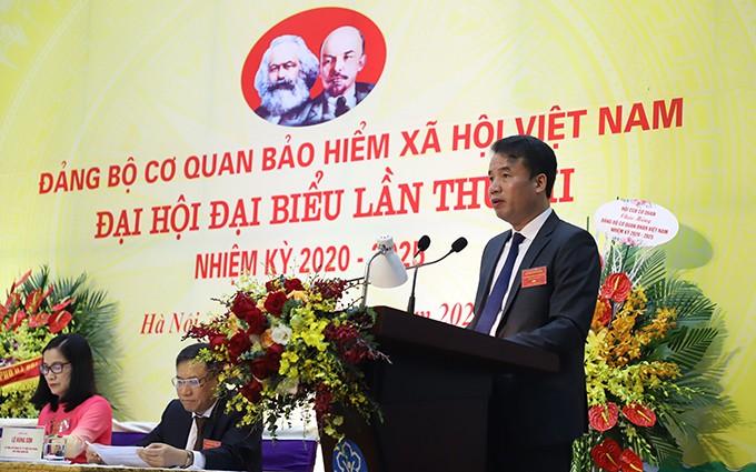 Tổng Giám đốc Bảo hiểm xã hội Việt Nam Nguyễn Thế Mạnh phát động phong trào thi đua yêu nước trong giai đoạn tới 2021-2025.