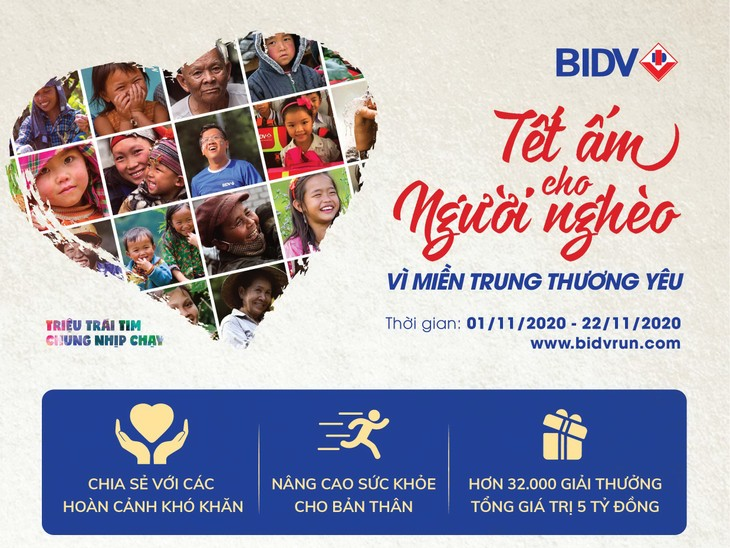 """BIDV tổ chức giải chạy """"Tết ấm cho người nghèo - Vì miền Trung thương yêu"""""""