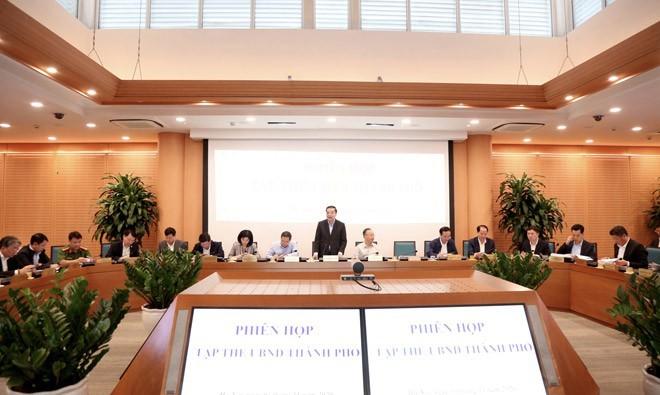 Chủ tịch UBND thành phố Hà Nội Chu Ngọc Anh chủ trì phiên họp tập thể UBND thành phố Hà Nội