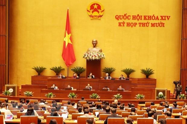 Toàn cảnh phiên họp của Quốc hội ngày 3/11. Ảnh: TTXVN