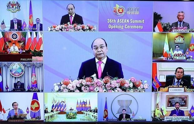 Từ ngày 12-15/11, Hội nghị cấp cao ASEAN lần thứ 37 và các Hội nghị cấp cao liên quan bằng hình thức trực tuyến. Ảnh: TTXVN