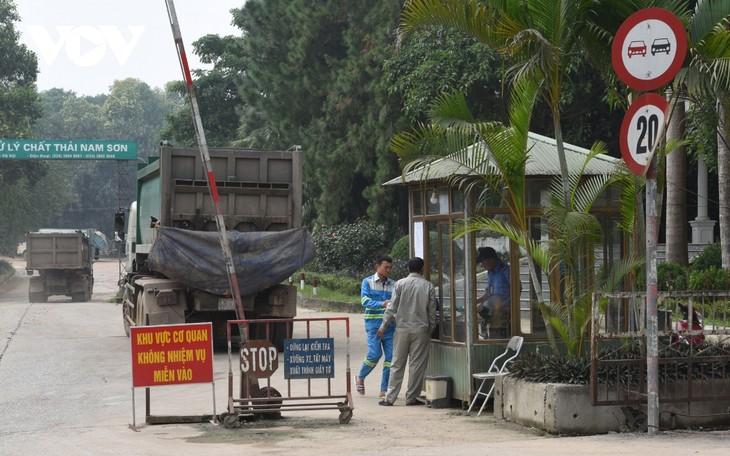 Hà Nội tiếp tục xử lý tháo gỡ vướng mắc tại Khu xử lý chất thải SócSơn