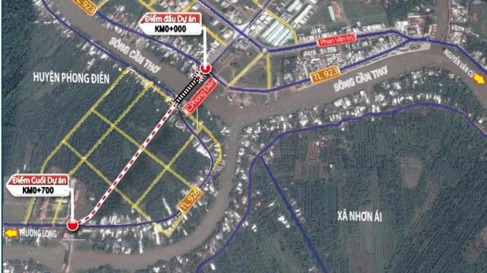 Dự án Cầu Tây Đô có điểm đầu giao với đường tỉnh 923 tại vị trí đường dẫn vào cầu Phong Điền cũ. Ảnh chỉ mang tính minh họa. Nguồn Internet