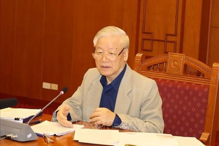 Tổng Bí thư, Chủ tịch Nước Nguyễn Phú Trọng, Trưởng Ban Chỉ đạo Trung ương về phòng, chống tham nhũng. Ảnh TTXVN