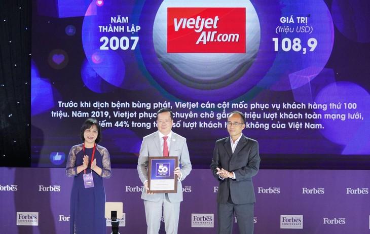 Vietjet, Viettel, Vinamilk...vào top 50 Thương hiệu dẫn đầu 2020 do Forbes bình chọn