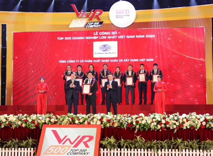 Vinaconex lọt Top 5 Doanh nghiệp xây dựng lớn nhất Việt Nam