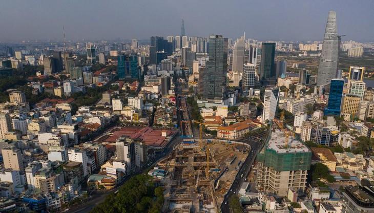 Đoạn metro đi ngầm từ ga Bến Thành đến ga Nhà hát Thành phố thuộc gói thầu CP 1a đã hoàn thành 84,9% khối lượng sau gần 5 năm thi công.
